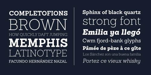 Sanchez Slab free fonts of year 2013