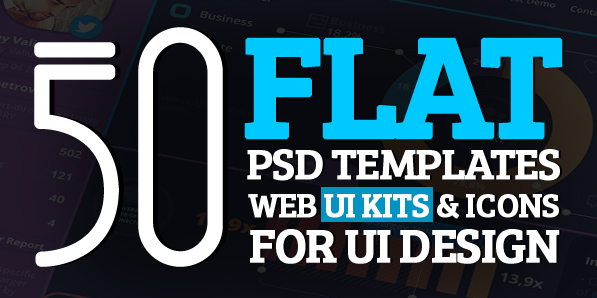 50 Free Flat Psd Templates and Web Elements For UI Design