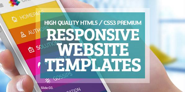 15 High Quality HTML5 / CSS3 Premium Website Templates