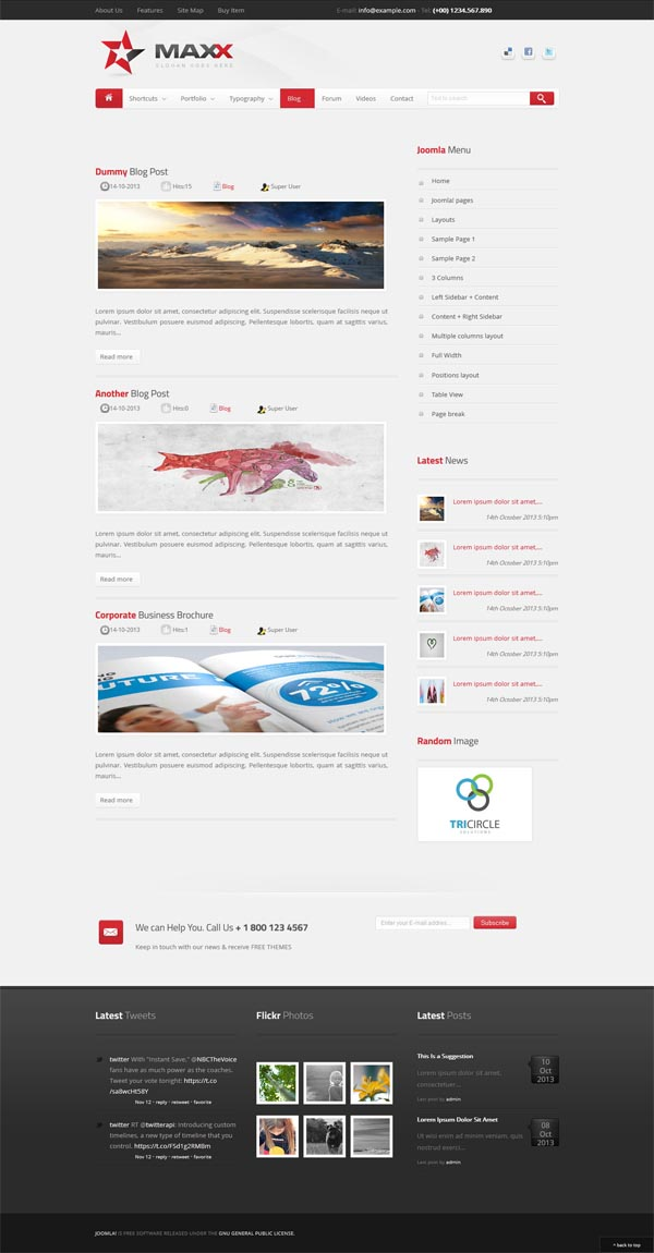 Maxx - Responsive Creative JoomlaTemplate