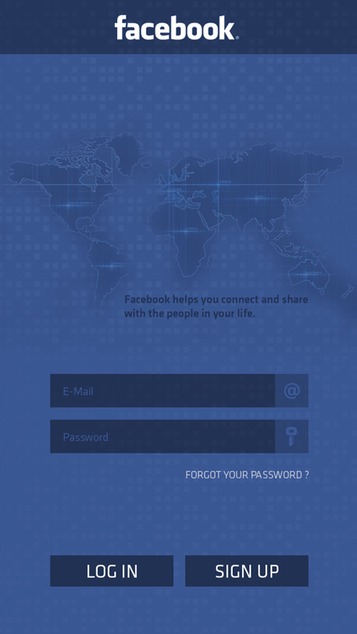 FaceBook Mobile UI Redesign for Inspiration