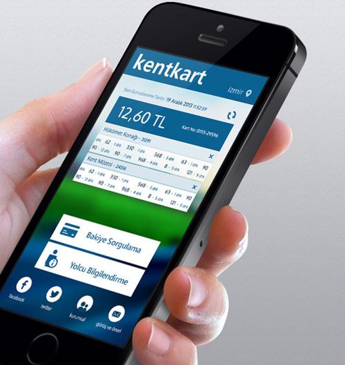 KentKart Mobile App UI UX Design for Inspiration