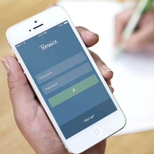 Bernice Photo-Sharing Mobile App UI UX Design for Inspiration