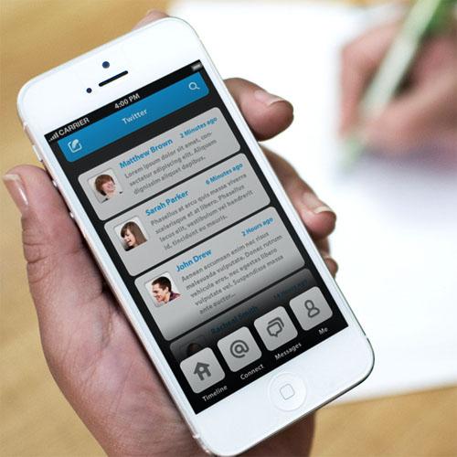 Natalie Phone UI Retina UX Design for Inspiration
