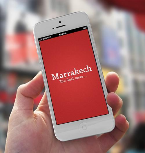 Marrakech Phone Restaurant Mobile App UI UX Design for Inspiration