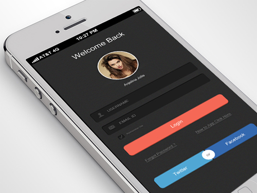 Mobile App UI UX Design for Inspiration