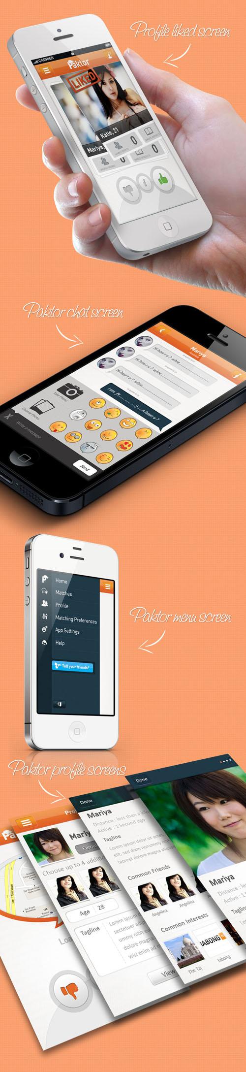 Paktor Dating Mobile App UI UX Design for Inspiration