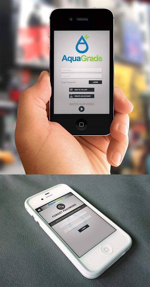 Aqua Grade Mobile App UI UX Design for Inspiration