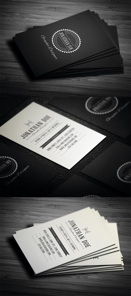 Retro Business Cards Design-1