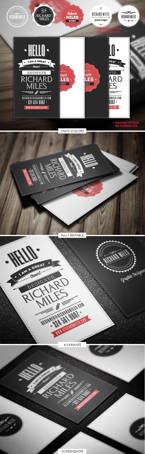 Retro Invitation Business Cards Design-10