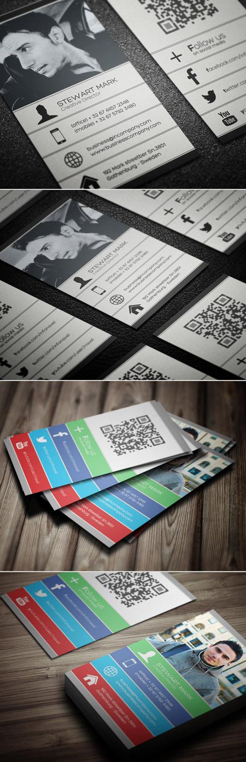 Social Business Cards Design-16