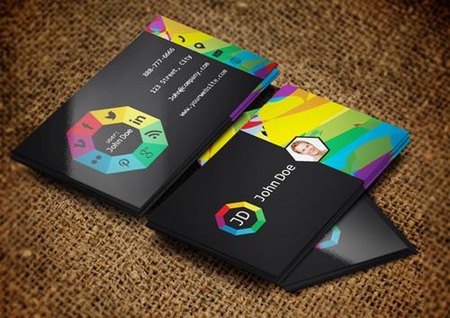 Social websites Business Cards Design-22
