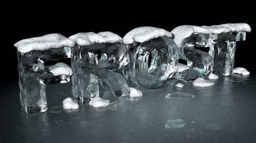 Create a 3D Ice Text Effect With Modo and Photoshop