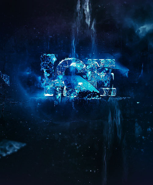 Create Chilling Ice Text Effect in Photoshop