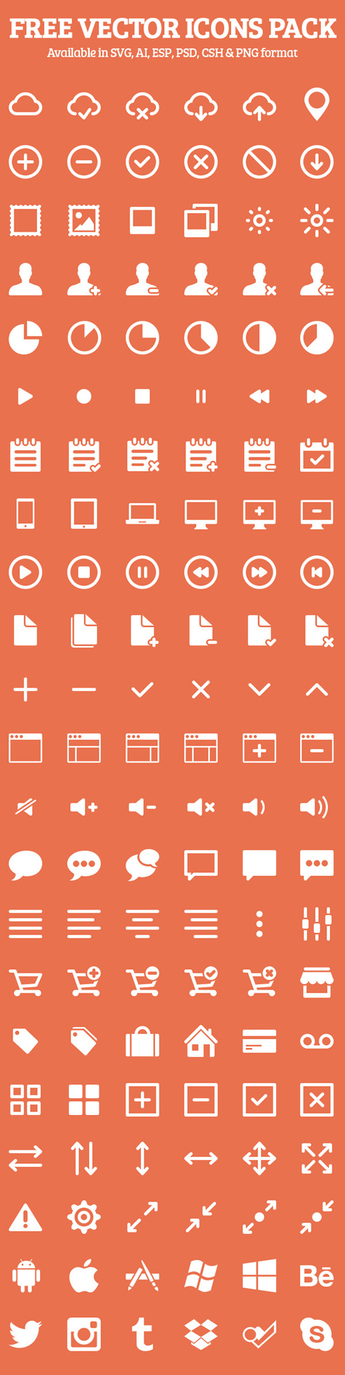 250+ Free Vector Icons Pack