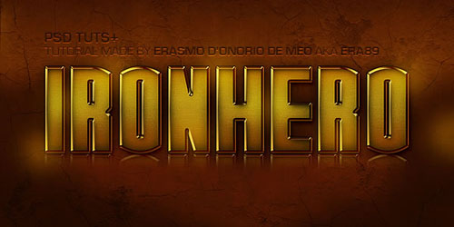 Create an IronHero Text Effect in Photoshop