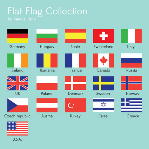 Flat Flags collection