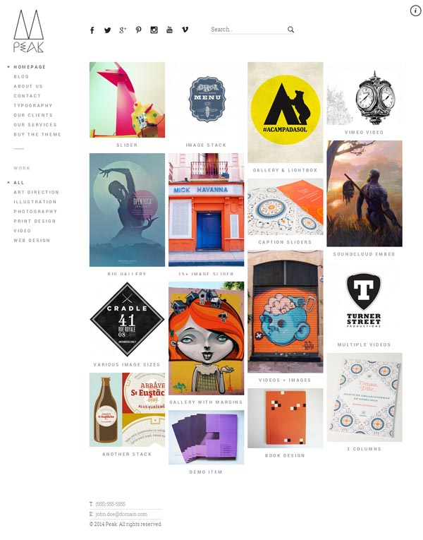 Peak - Retina Responsive WordPress Portfolio Theme