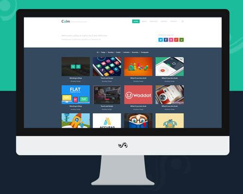 Calm – Free Creative Simple Portfolio & Blog PSD by Salah Elimam