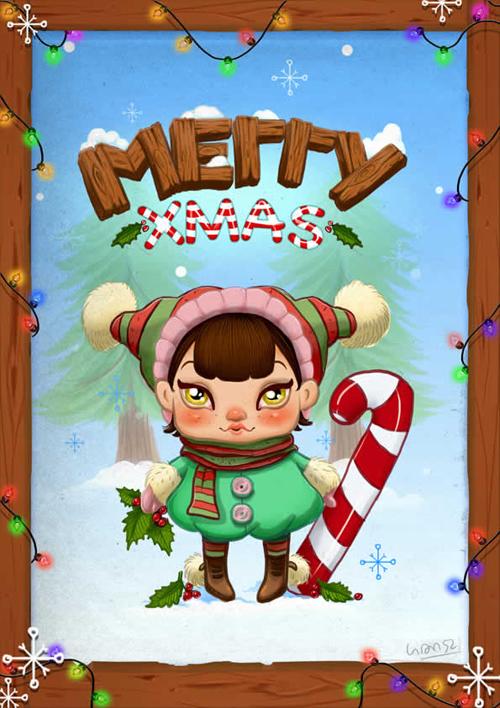 Create an Adorable Christmas Card in Photoshop