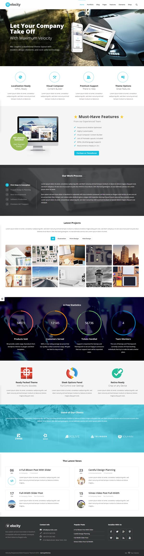 Velocity - Responsive Multi-Purpose WordPress Theme