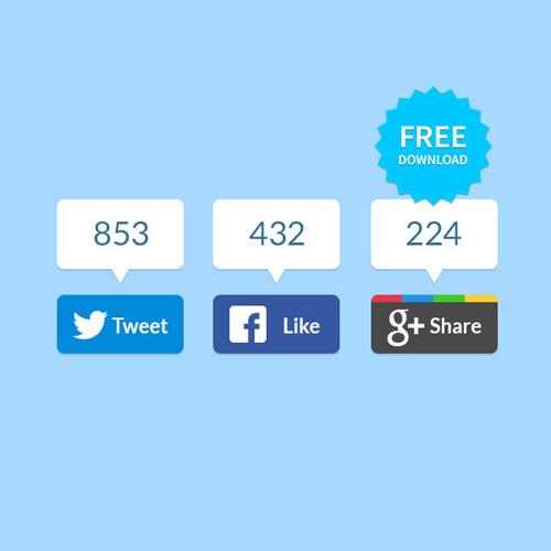 Flat Share Buttons