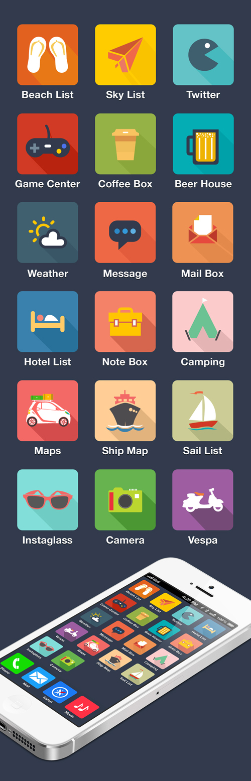 Travel FLAT icon design