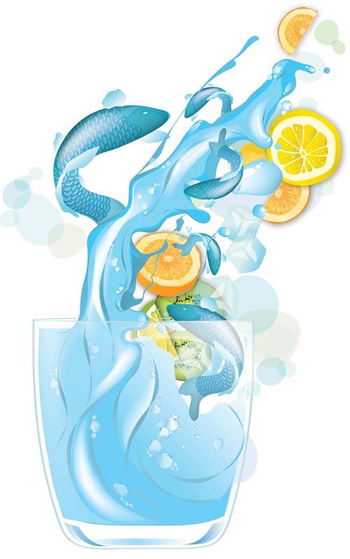 Draw realistic liquids in vector art in Adobe Illustrator Tutorial