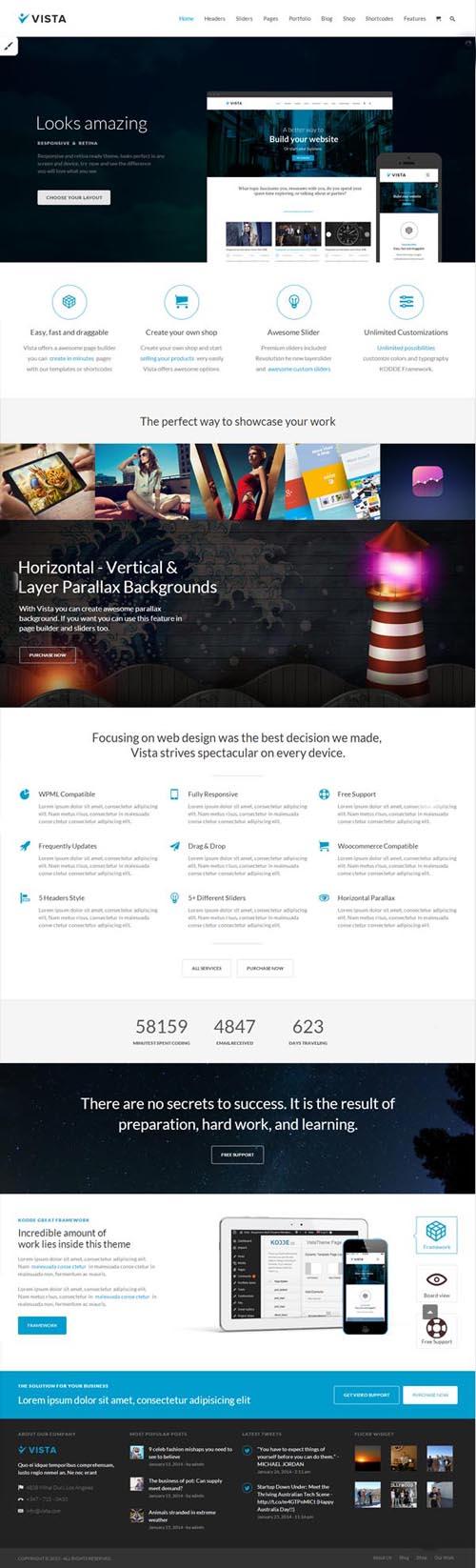 Vista - Responsive Multi-Purpose WordPress Theme