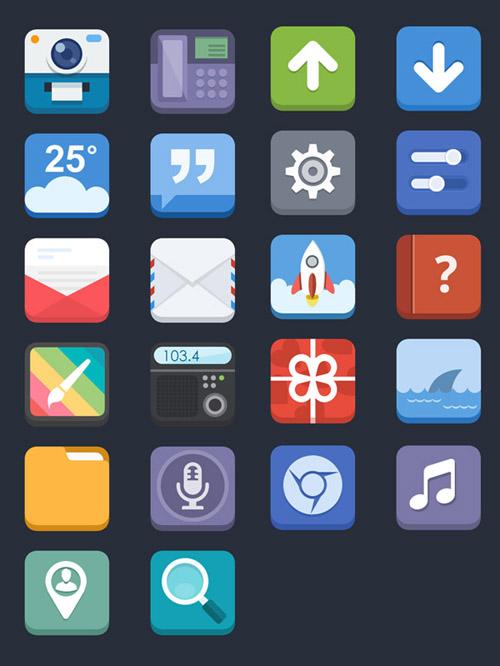 3D Flat Icons