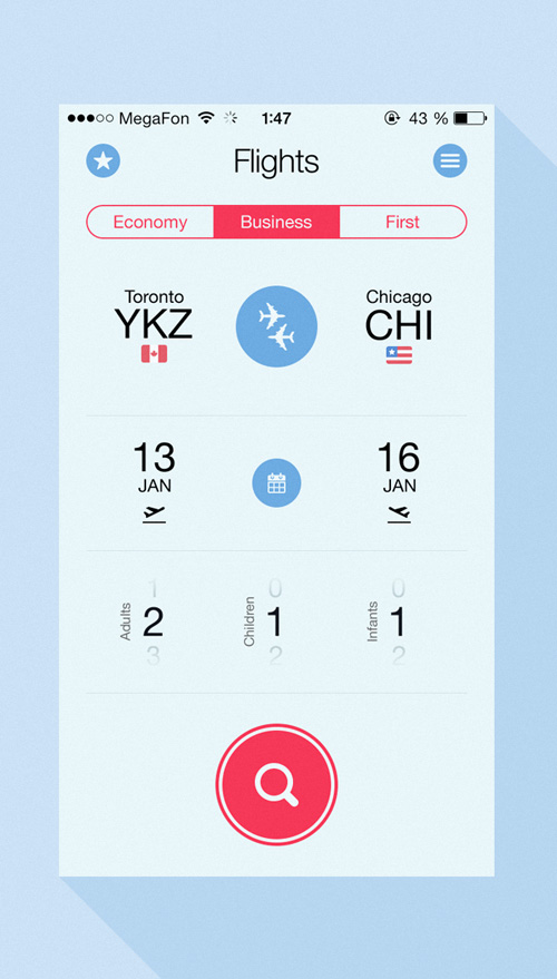 Flight Search App UI Design Concepts to Boost User Experience