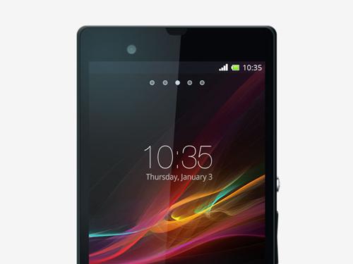 Sony Xperia-Z – Free PSD Mockup