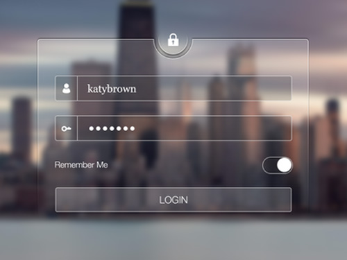 Transparent Login Screen  UI Design Concepts to Boost User Experience