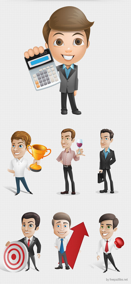 Businessman Vector Character Set