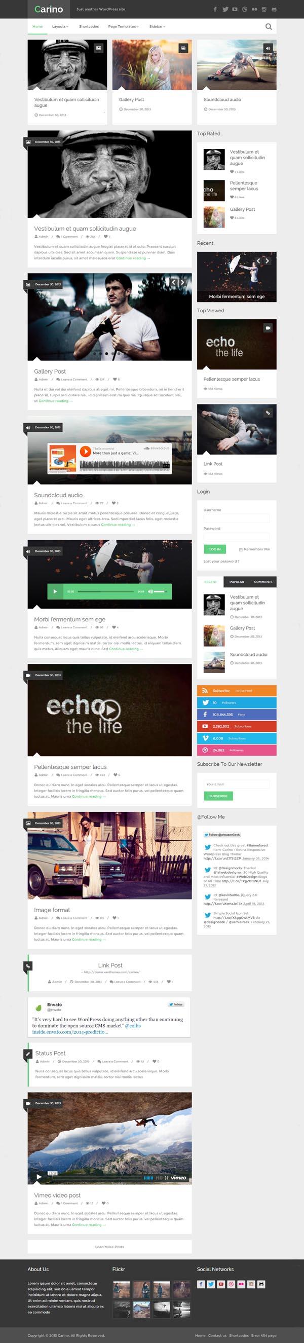 Carino - Retina Responsive WordPress Blog Theme