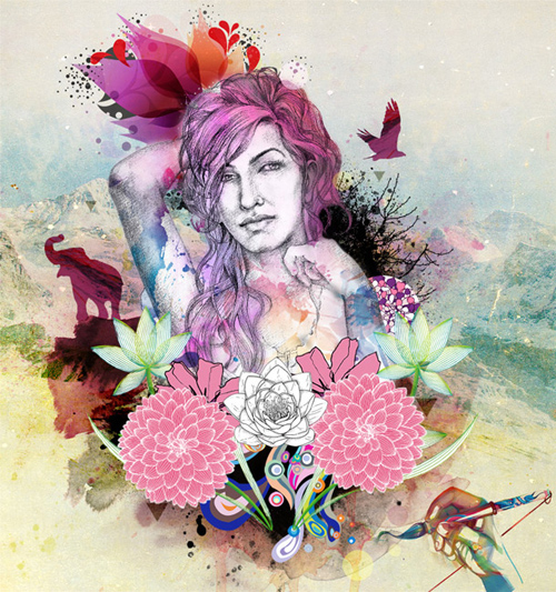 Create a Watercolor artwork in Photoshop