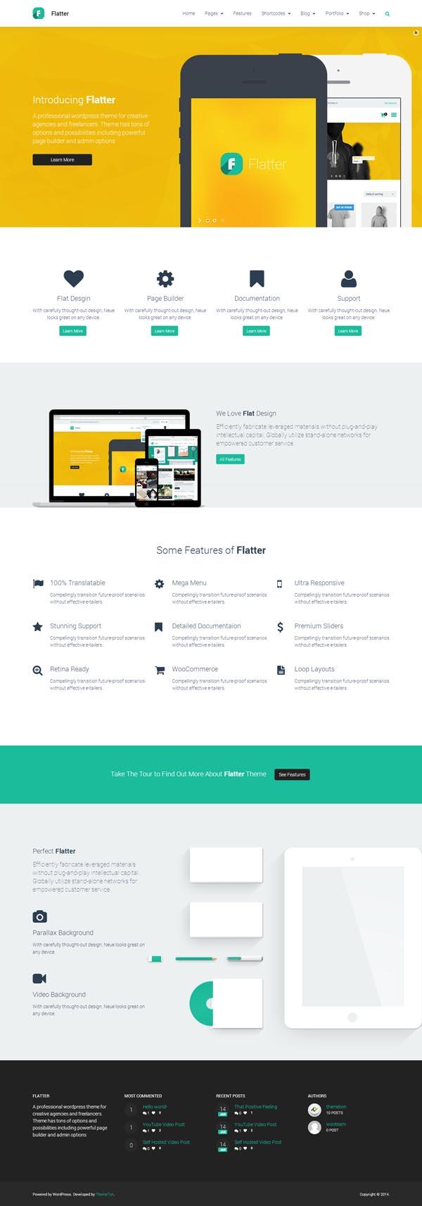 Flatter - Multi-Purpose Theme for Your Creativity