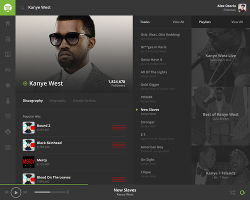 Spotify Flat UI Design Concepts to Boost User Experience