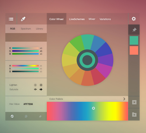 Adobe Color Wheel Redesign Free PSD