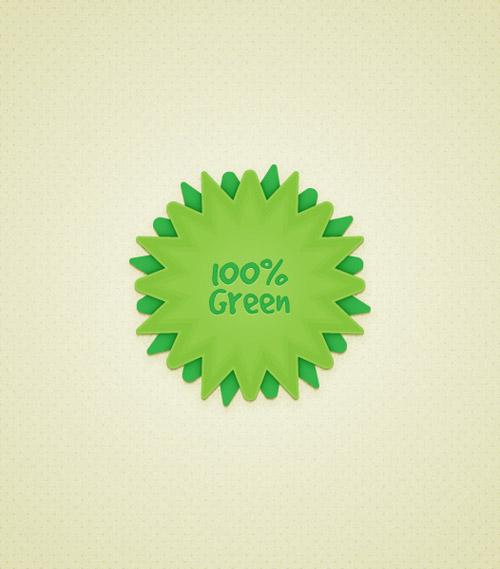 Create a Green Web Badge Using Live Corners in Illustrator
