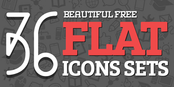 Best of 2014 - 36 Free Flat Icons Sets