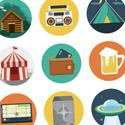 Post thumbnail of Beautiful Free Flat Icons Set
