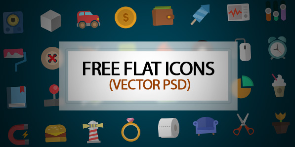Best of 2014 - Colorful Flat Vector Icons – Free Download