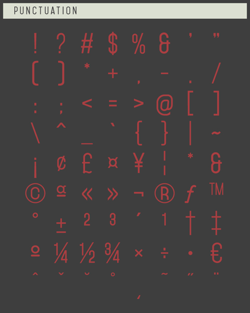 Mohave Typefaces