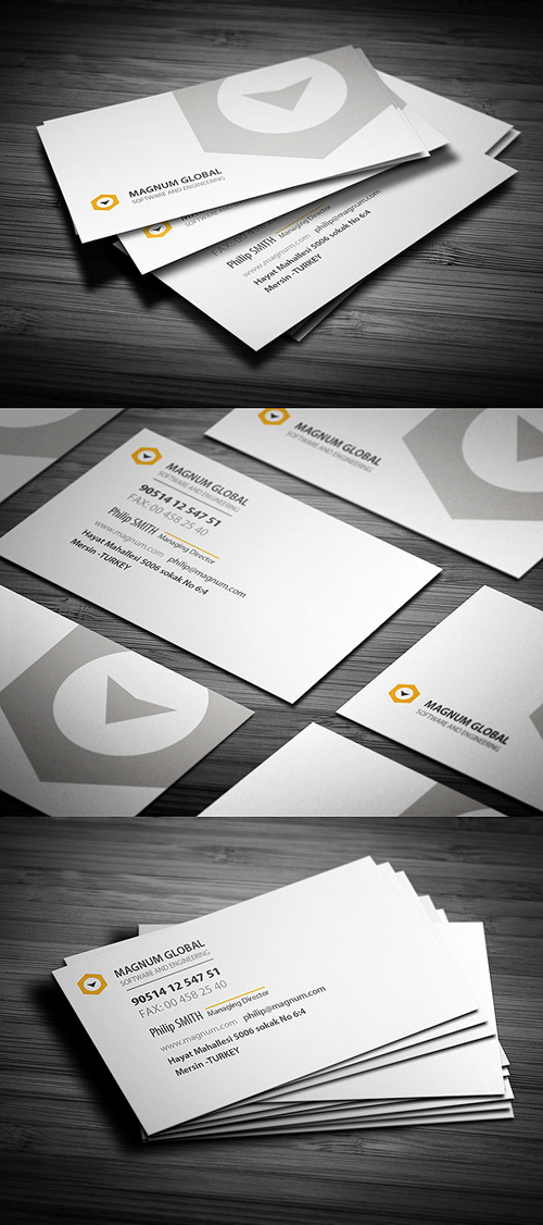 Rounded Clean Corporate Business Card