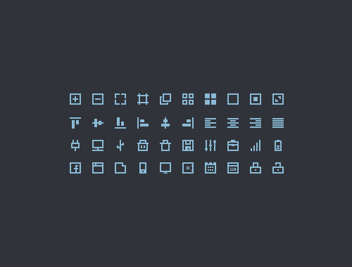 40 Bound Icons PSD