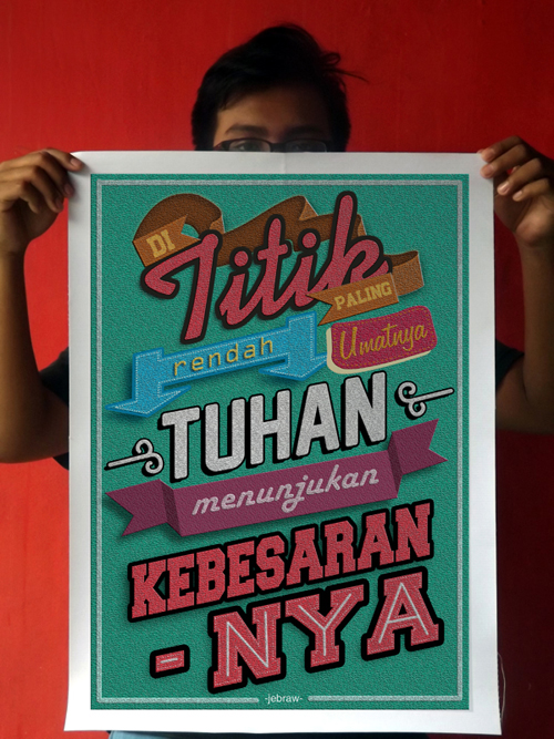 Indonesian Quote on Typography