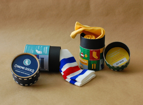 Cinema Socks Packaging Design