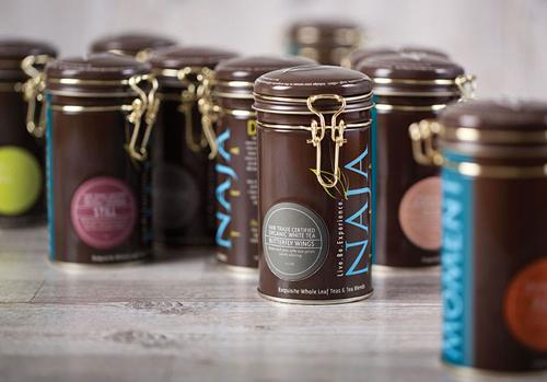 Naja Tea TinPackaging Design