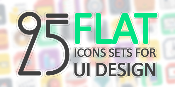 25 Set of Flat Icons for UI Design